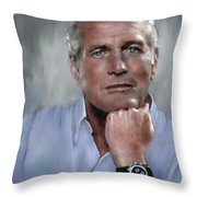 Pensive Paul Throw Pillow