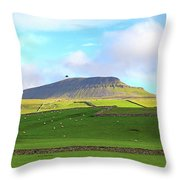 Penyghent In Yorkshire Dales National Park North Yorkshire Throw Pillow