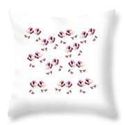 Peonies And Skate Throw Pillow