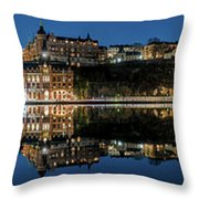 Perfect Sodermalm Blue Hour Reflection Throw Pillow