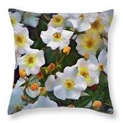 Petal Pushers Throw Pillow