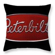 Peterbilt Emblem Black Throw Pillow