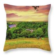 Petersham Landscape Throw Pillow
