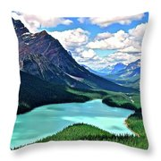 Peyto In August Throw Pillow