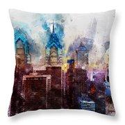 Philadelphia, Pennsylvania - 01  Throw Pillow