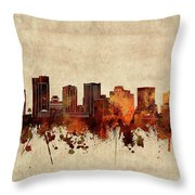 Phoenix Skyline Sepia Throw Pillow