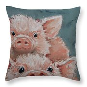 Photo Bomber Throw Pillow by Jani Freimann