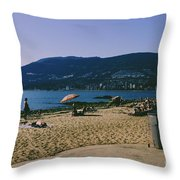 photograph of thid beach which is located in Stanley Park Vancouver. Third beach is a popular location for tourists and locals alike. Throw Pillow
