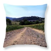 Photography Landscape Shot Of A Path Throw Pillow