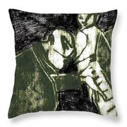 Pianist At The Piano Throw Pillow