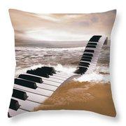 Piano Fantasy Throw Pillow