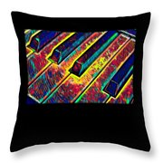 Piano Keys Musican Player Music Notes Gift Color Design Throw Pillow