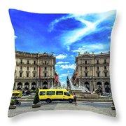 Piazza Della Repubblica Throw Pillow