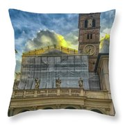 Piazza Di Santa Maria In Trastevere Throw Pillow