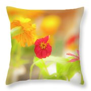 Pick Me Up Flowers Throw Pillow