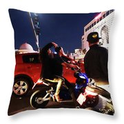 Picture Of Picture Taker Throw Pillow