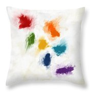 Piece Of The Rainbow- Art By Linda Woods Throw Pillow
