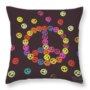 Pieces Of Peace Throw Pillow