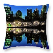Piedmont During Blue Hour Throw Pillow