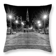Pier 7 In Black And White Throw Pillow