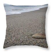 Pier Seashell Throw Pillow