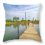 Pier View Goat Island Fantastic Scene Throw Pillow