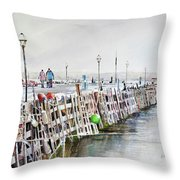 Piers To Be Cold Throw Pillow