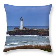 Pigeon Point Light Station In San Mateo County Ca Throw Pillow