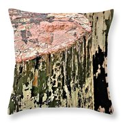 Pilings In Abstract Throw Pillow