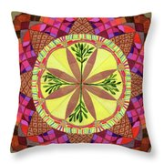 Pine Cone Mandala Throw Pillow