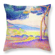 Pines Along The Shore - Digital Remastered Edition Throw Pillow