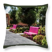 Pink Chairs At Grand Park Throw Pillow