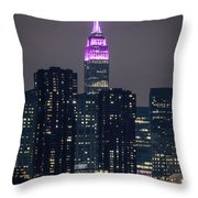 Pink Empire State Building Throw Pillow