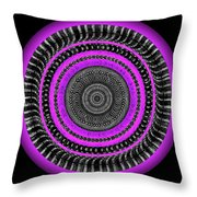 Pink Eye Throw Pillow by Visual Artist Frank Bonilla