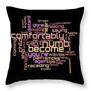 Pink Floyd - Comfortably Numb Lyrical Cloud Throw Pillow