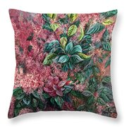 Pink Infusion Throw Pillow