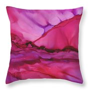 Pink Light Of Dawn Throw Pillow