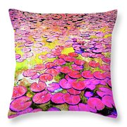 Pink Lily's Throw Pillow