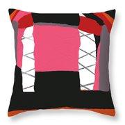 Pink Orange Throw Pillow