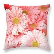 Pink Palette Throw Pillow