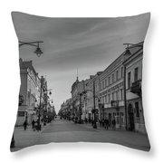 Piotrkowska Street Throw Pillow