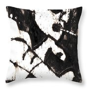 Pipe After Mikhail Larionov Black Oil Painting 4 Throw Pillow