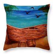 Pirates' Story Throw Pillow