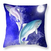 Pisces Throw Pillow by Mark Taylor
