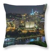 Pittsburgh Lights Throw Pillow