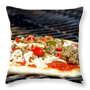 Pizza On The Grill Throw Pillow