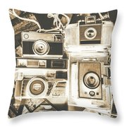 Placed In The Dark Room Throw Pillow