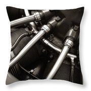 Plane Motor Throw Pillow