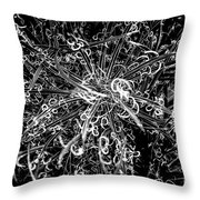 Plant Black And White Abstract Throw Pillow