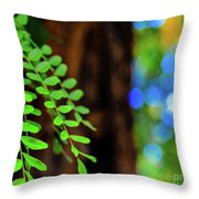 Plants, Trees And Flowers Throw Pillow